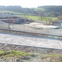 Security fencing arrives at Tavistock Self Storage in March 2017